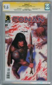 Conan #1 CGC 9.6 Signature Series Signed Cary Nord Dark Horse comic book